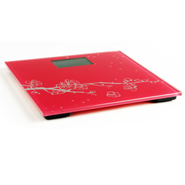 Large red electronic scales
